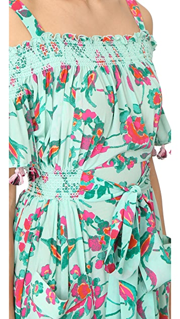 Tanya Taylor Mosaic Floral Amber Dress