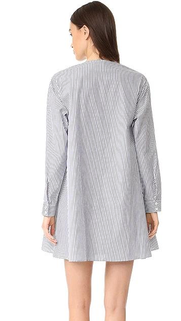 Tanya Taylor Menswear Striped Mirabelle Dress