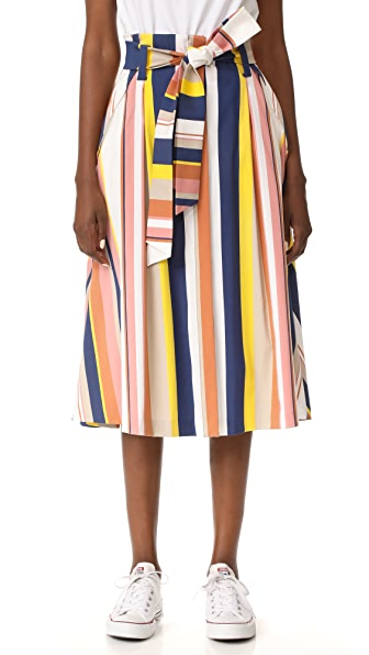Tanya Taylor Alibi Striped Shelby Skirt