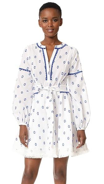 Tanya Taylor Diamond Fils Coupe Caro Dress - White