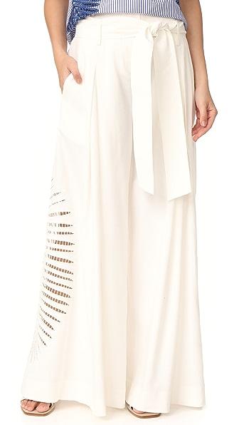 Tanya Taylor High Rise Lulu Pants - White