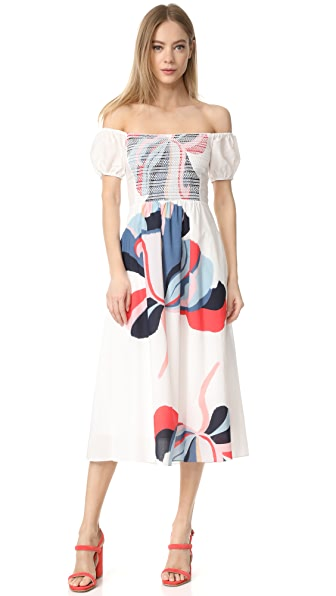 Tanya Taylor Ribbon Floral Zanna Dress
