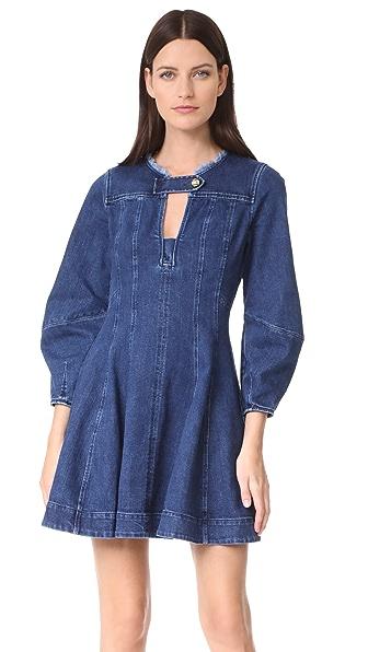 Tanya Taylor Denim Cybil Dress - Indigo