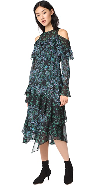 Tanya Taylor Floral Vines Althea Dress