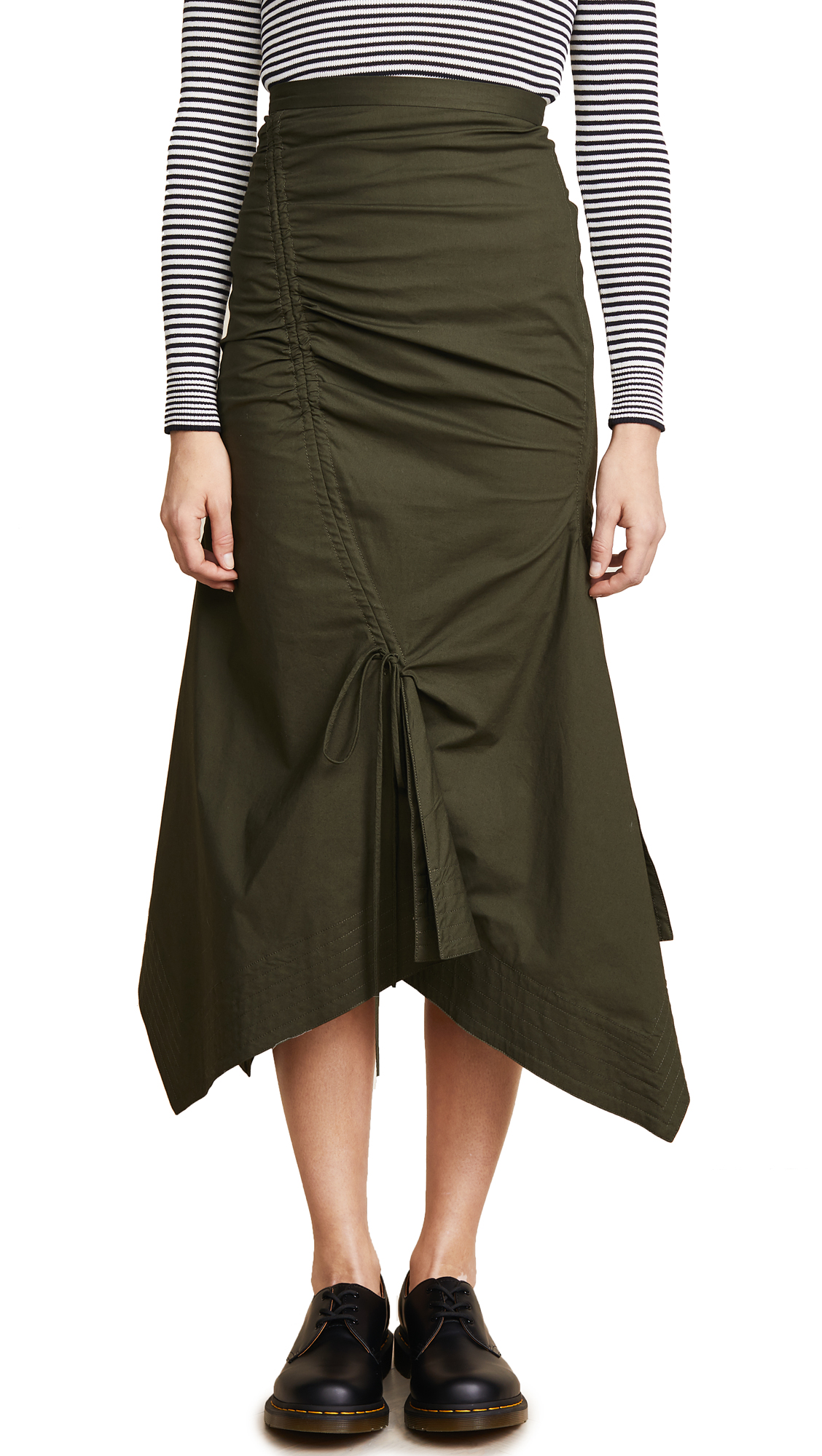 Tanya Taylor Raquel Skirt In Army