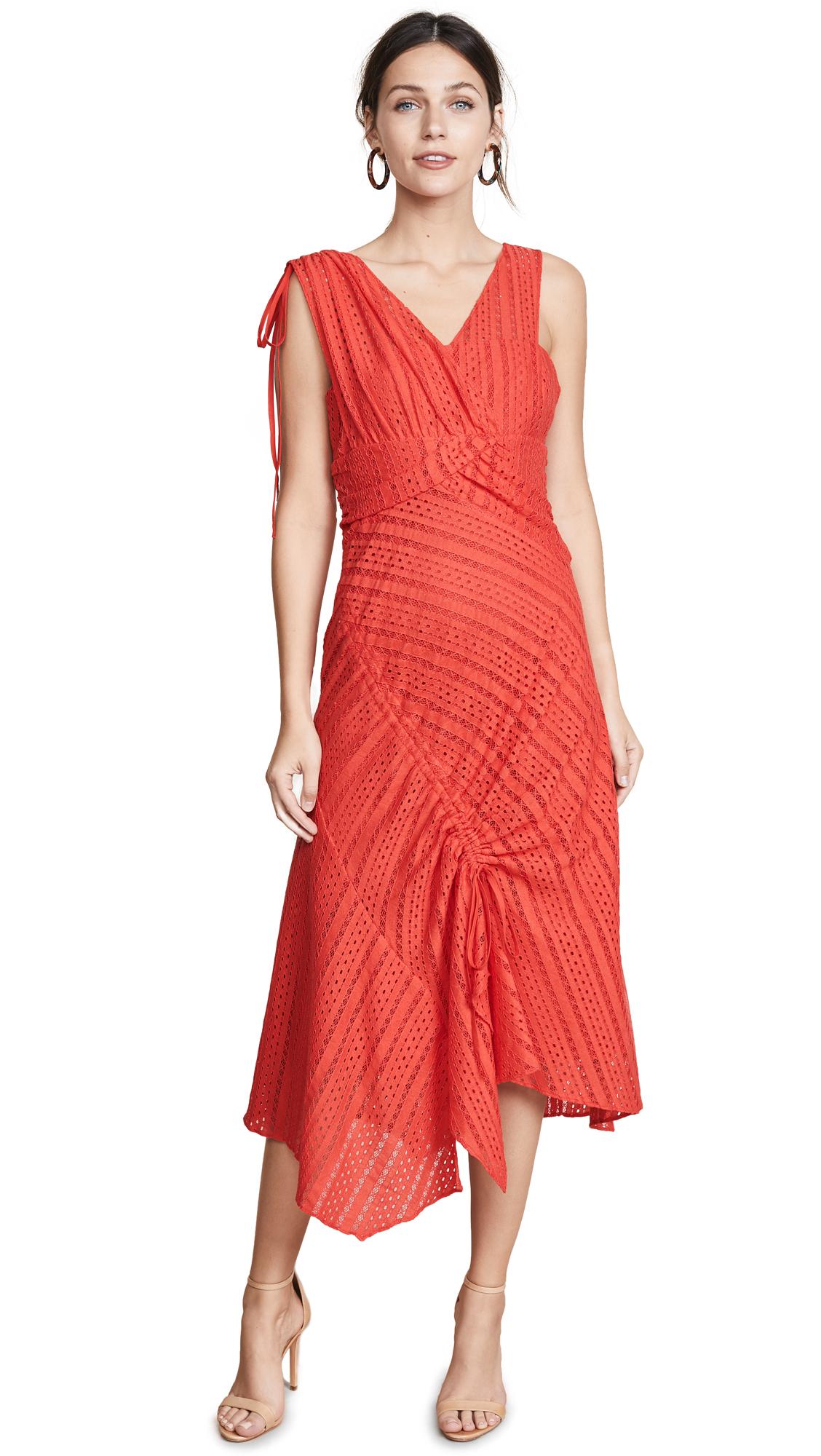 Tanya Taylor Juliet Dress In Red