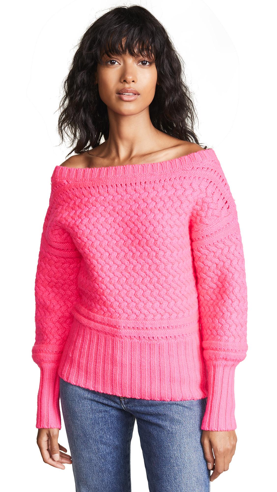 Tanya Taylor Marie Sweater - Hot Pink