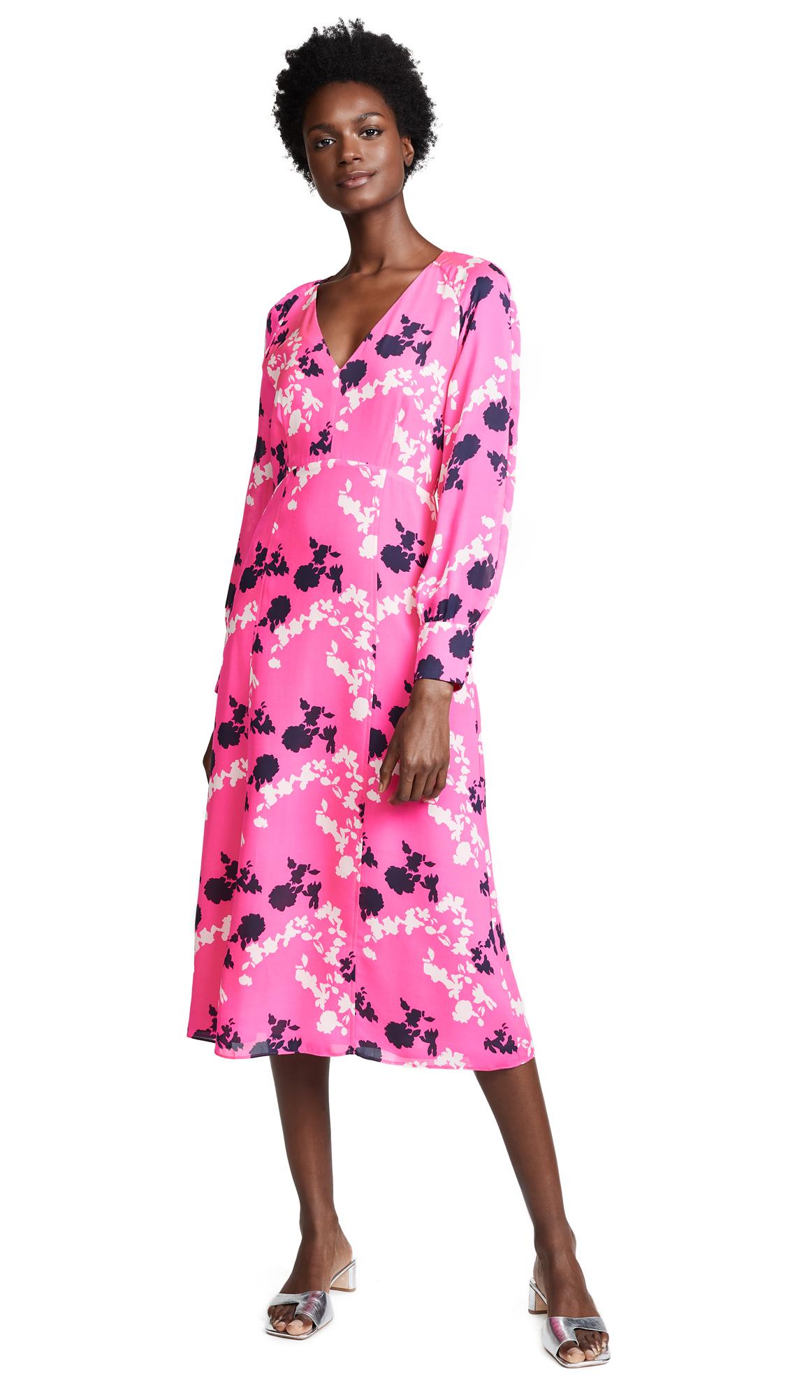 Tanya Taylor Alannah Dress - Hot Pink