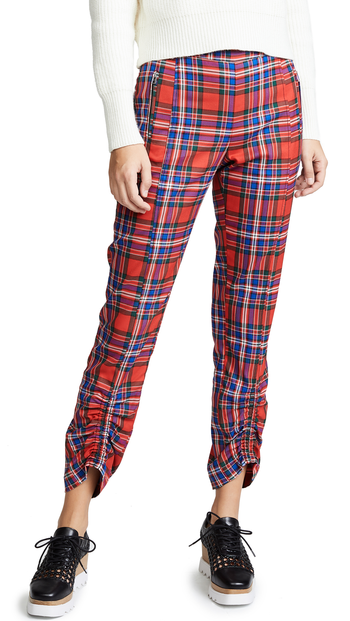 Tanya Taylor Carrington Pants In Red Multi