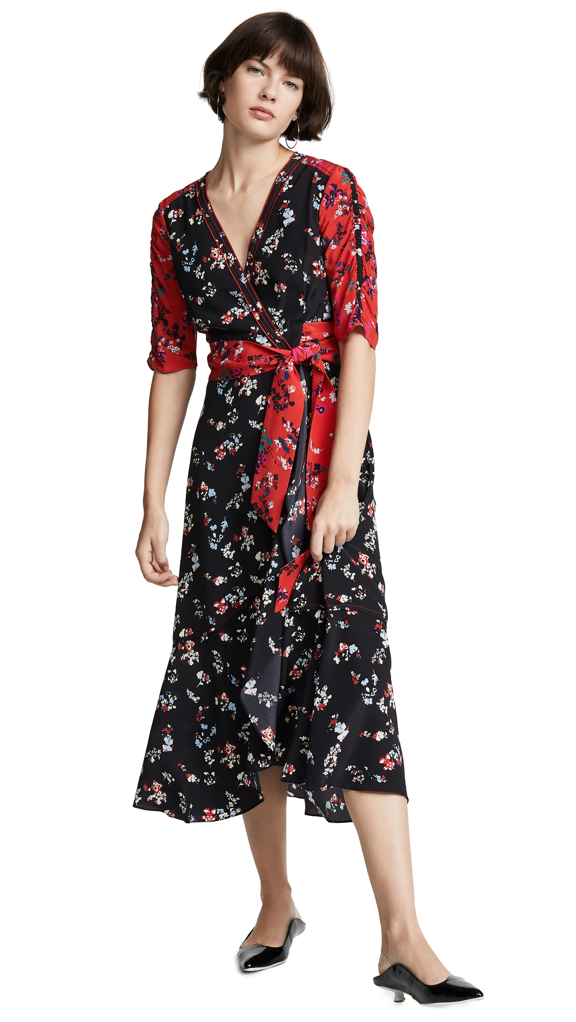 Tanya Taylor Blaire Dress - Red/Black