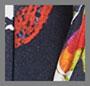 Юбка-карандаш с темно-синим цветочным рисунком