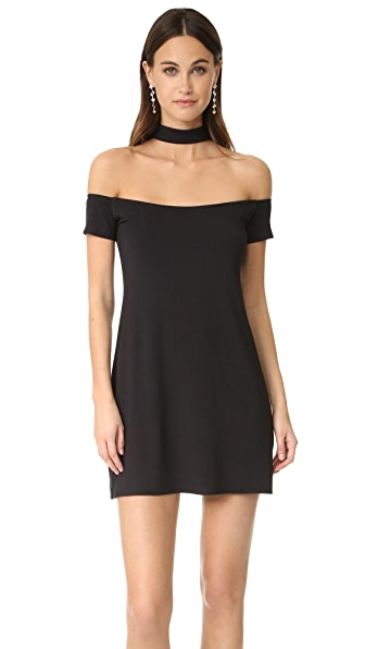 Twenty Tees Collar Off Shoulder Dress