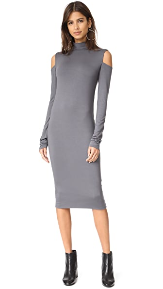 Twenty Tees Stanley Cutout High Neck Dress - Gunmetal