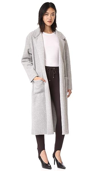 Twenty Tees Smart Polar Fleece Coat In Heather Grey