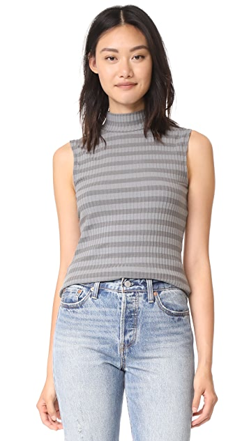 Twenty Tees Sherbrooke Tonal Sleeveless High Neck Top