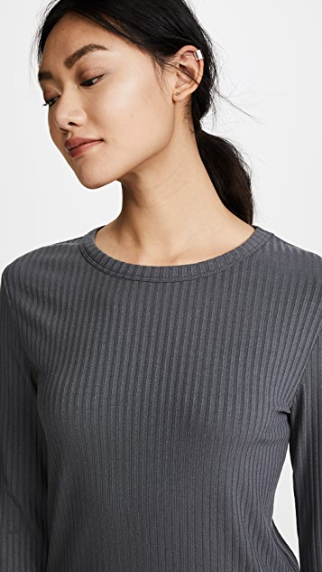 Twenty Tees Sherbrooke Ribbed Crew Neck Top