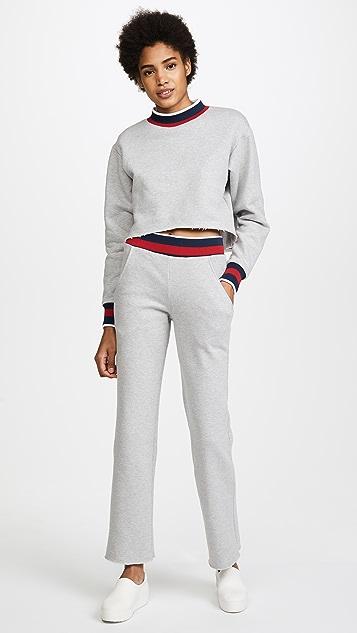 Twenty Tees Varsity Ringer Cropped Sweatshirt