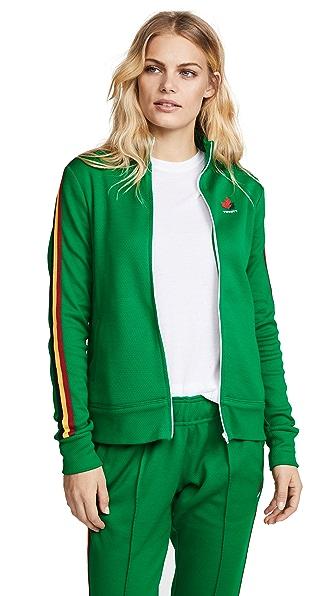 Twenty Tees Mesh Track Jacket In Green