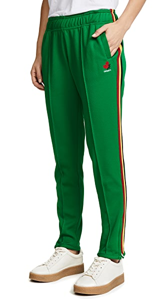 Twenty Tees Mesh Track Pants In Green