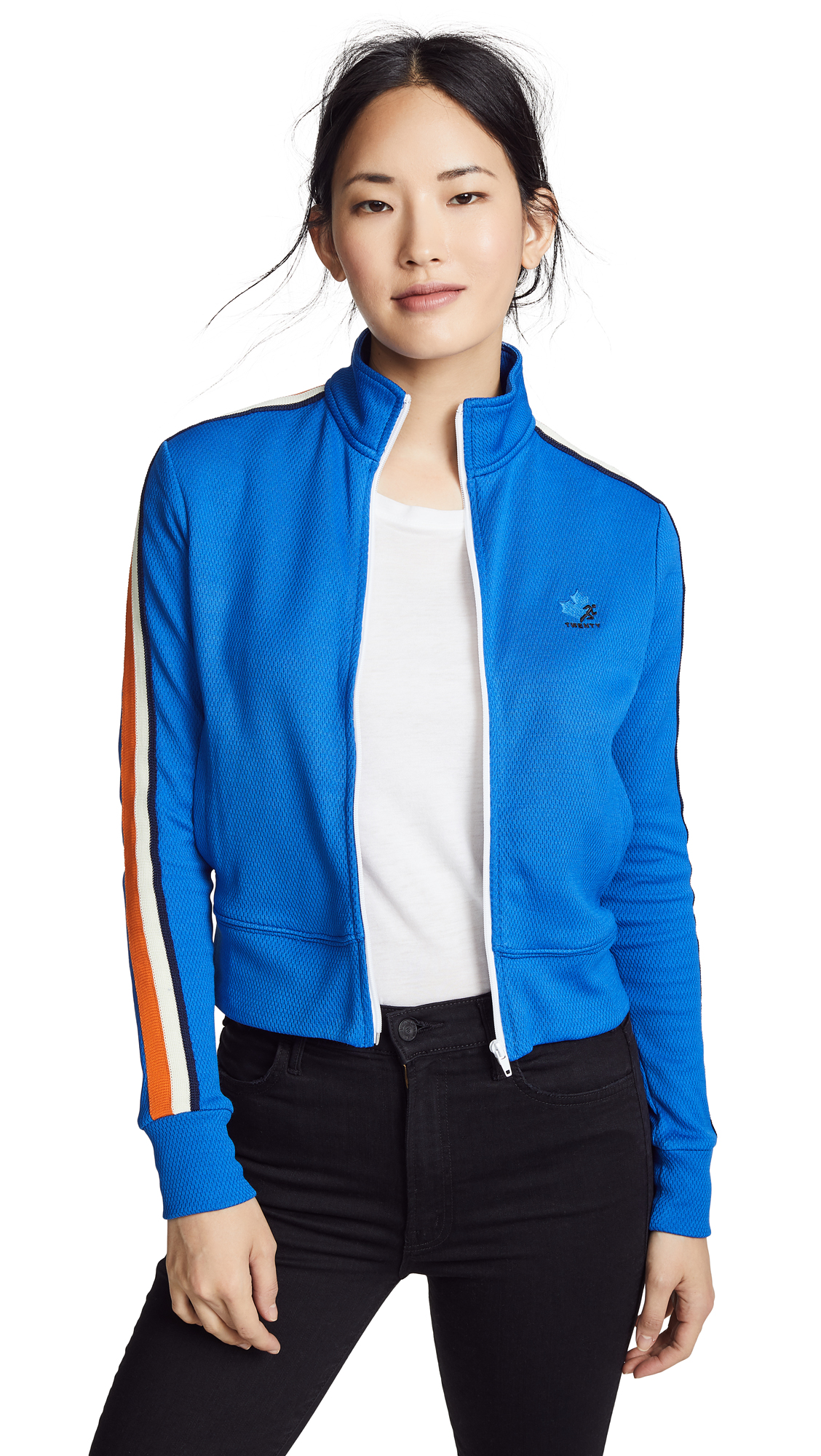 TWENTY MONTREAL Olympic Mesh Track Jacket - Cobalt/Orange