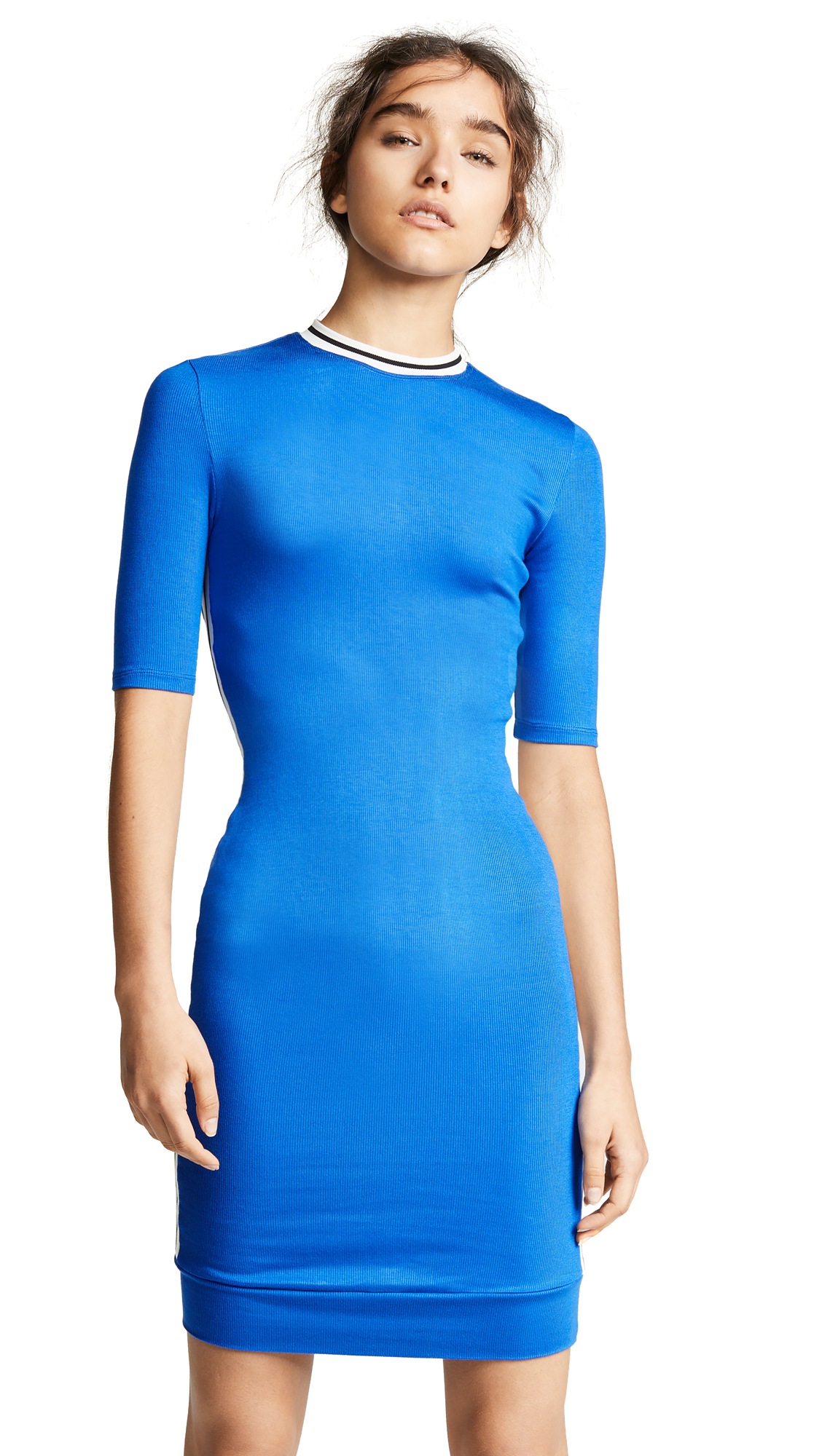 TWENTY MONTREAL Ribbed Ringer Dress - Cobalt