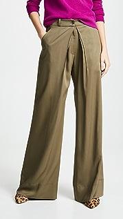 TWENTY MONTREAL Sosa 斜纹织物阔腿裤