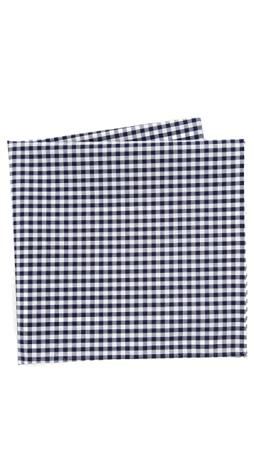 The Tie Bar Novel Gingham Pocket Square