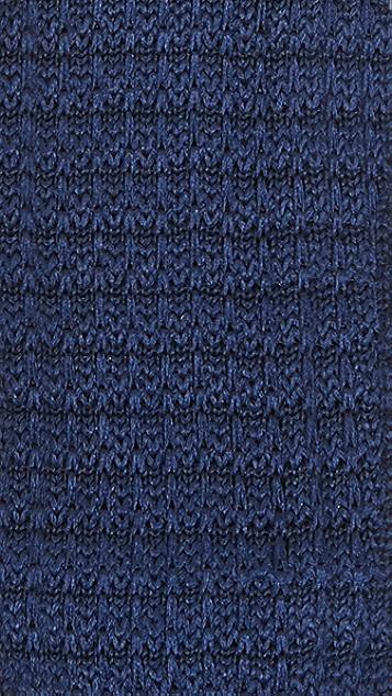 The Tie Bar Navy Knit Silk Tie Set