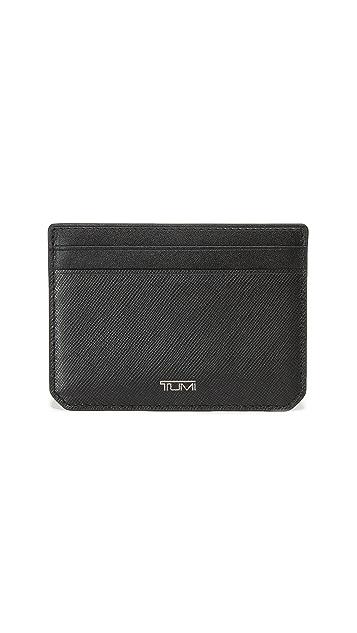 Tumi Mason Leather Slim Card Case ID