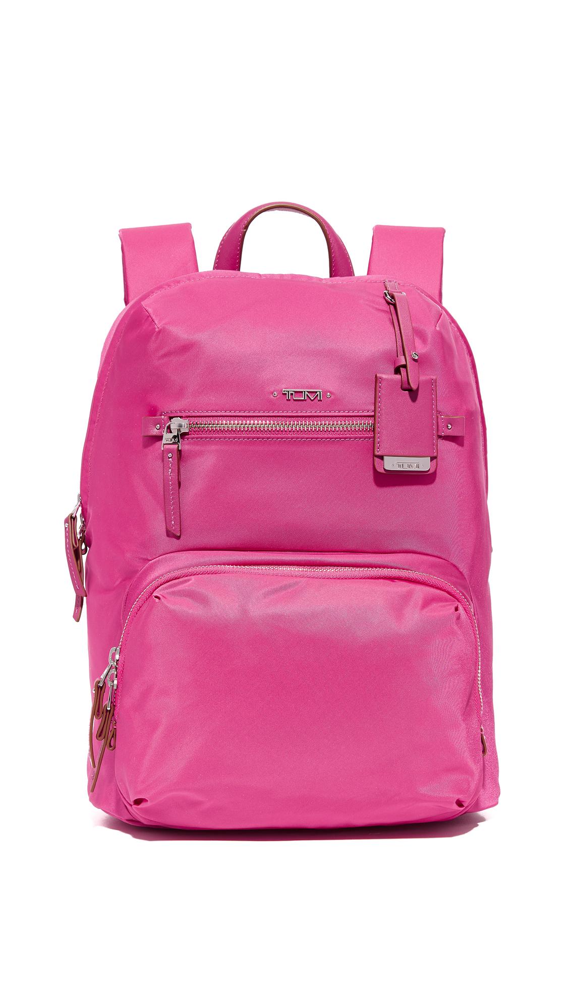 tumi female tumi halle backpack pink
