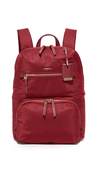 Tumi Halle Backpack - Crimson