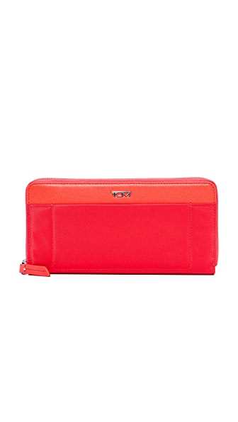 Tumi Zip Around Continental Wallet - Hot Pink