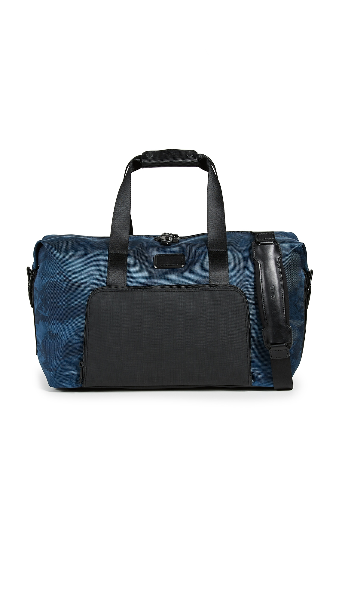 Alpha Double Expansion Satchel in Navy