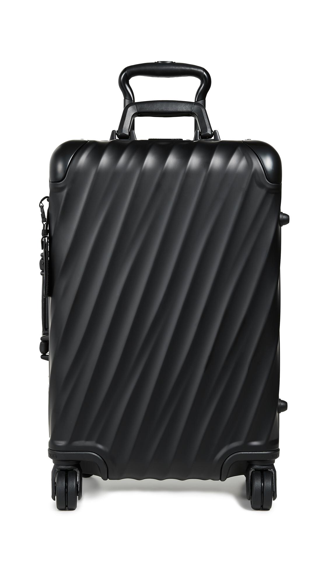 19 Degree Aluminium International Carry On Suitcase, Black Matte