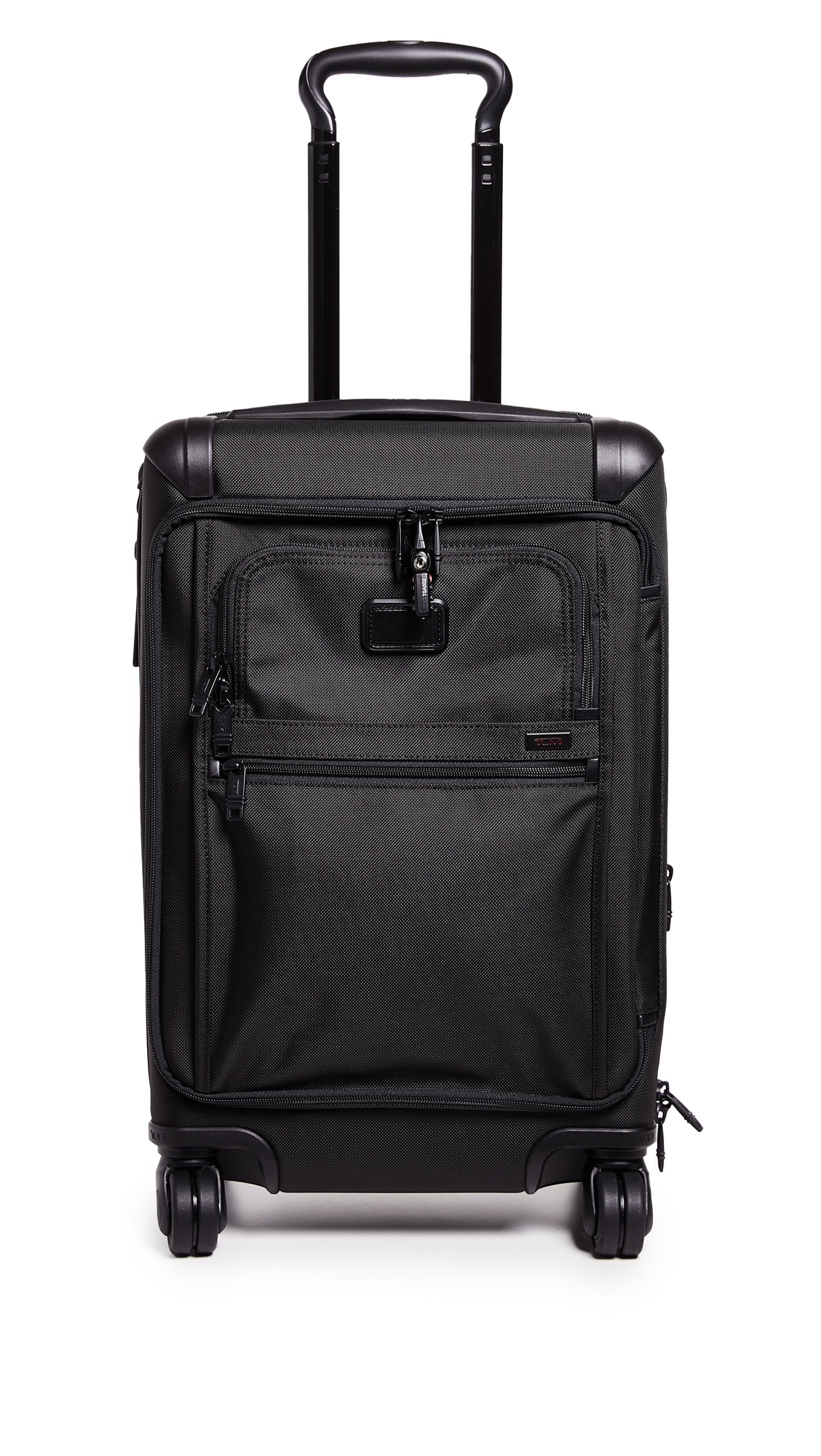 Alpha International Front Lid Carry On Suitcase, Black from EAST DANE