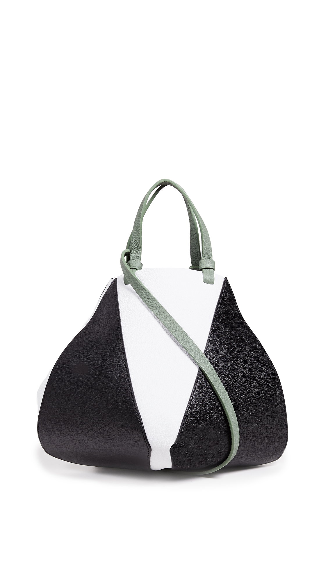 THE VOLON Cindy Shopper Tote In Black/White