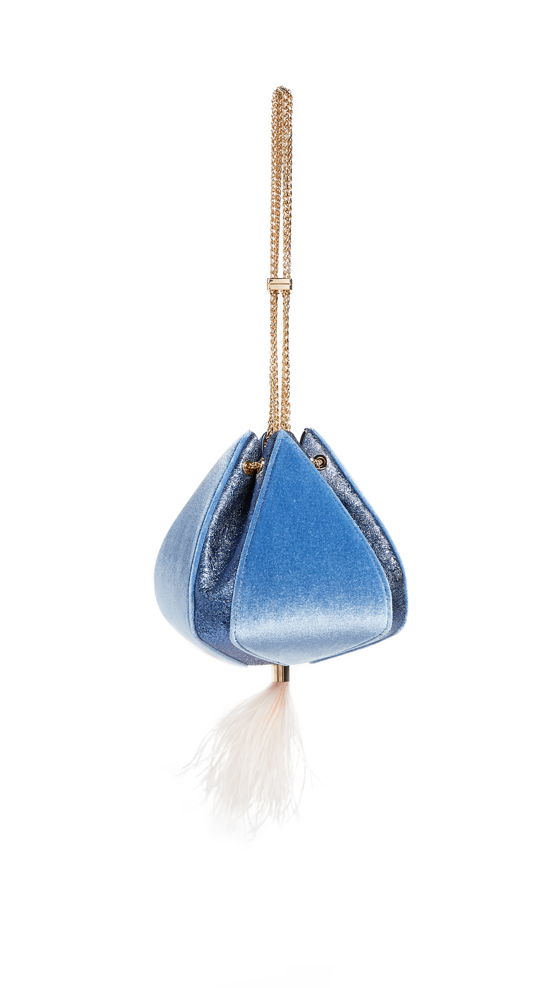 THE VOLON CINDY FEATHER BAG