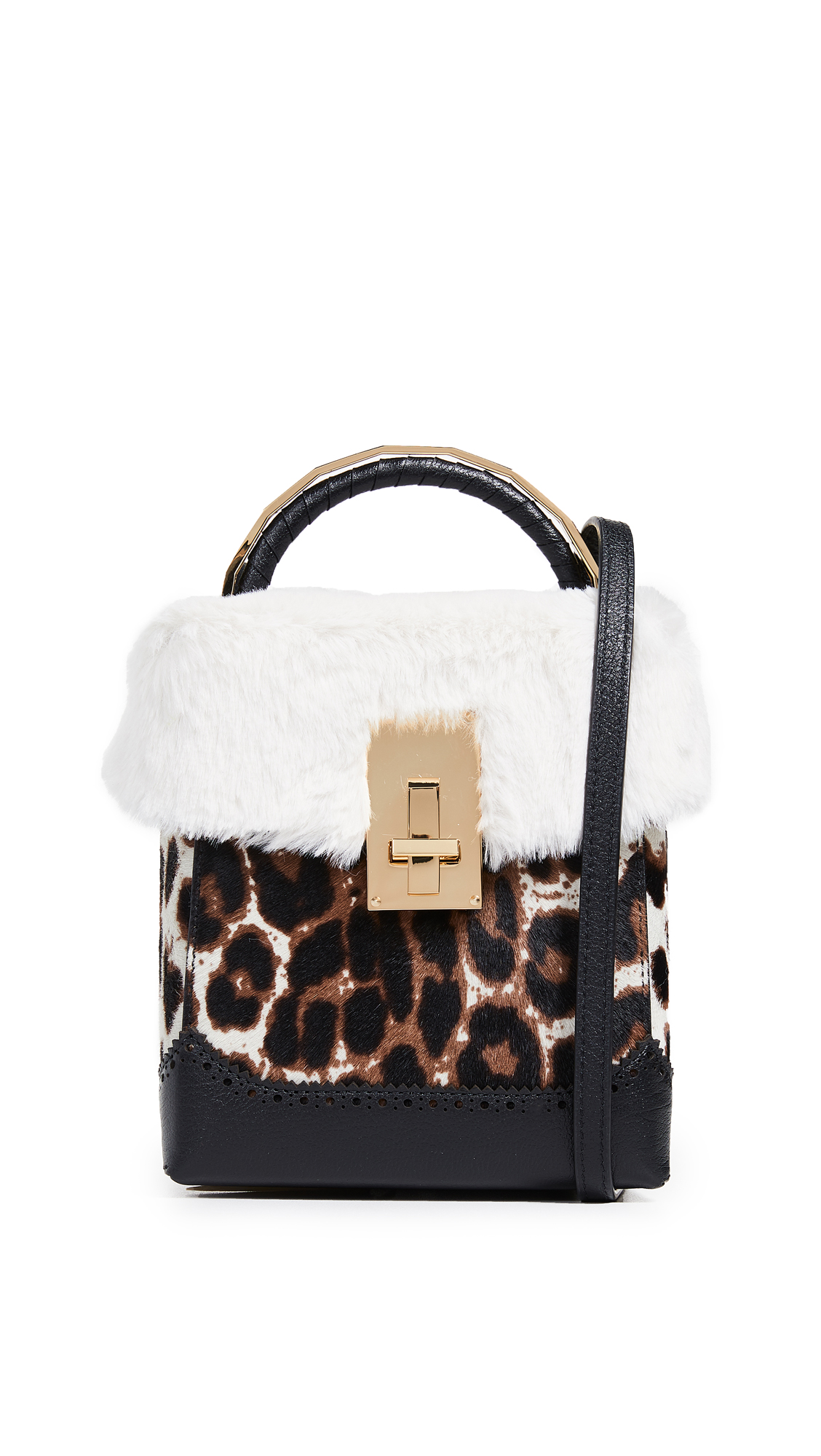 THE VOLON GREAT L. FAUX FUR BOX BAG