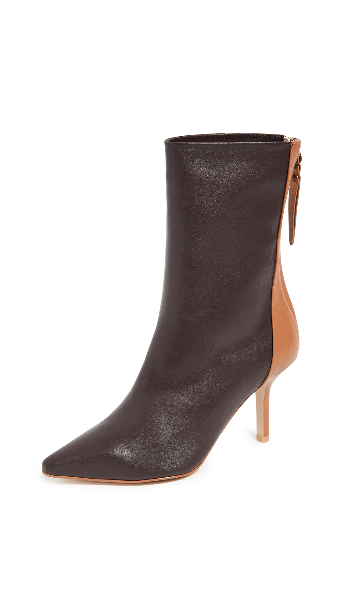 The Volon Dico Ankle Booties In Chocolate