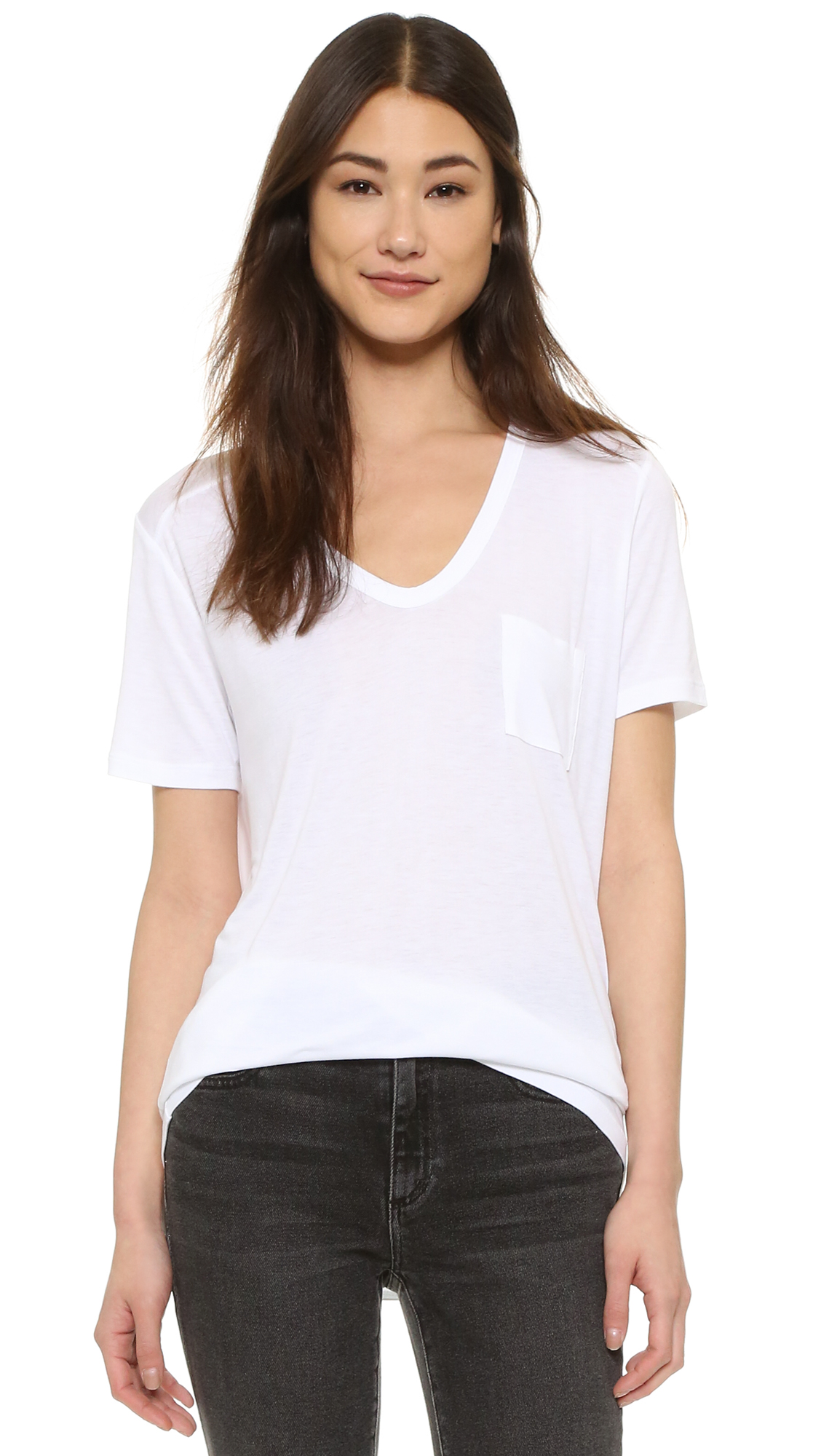 9032c8e74f6 alexanderwang.t Classic T Shirt with Pocket | SHOPBOP