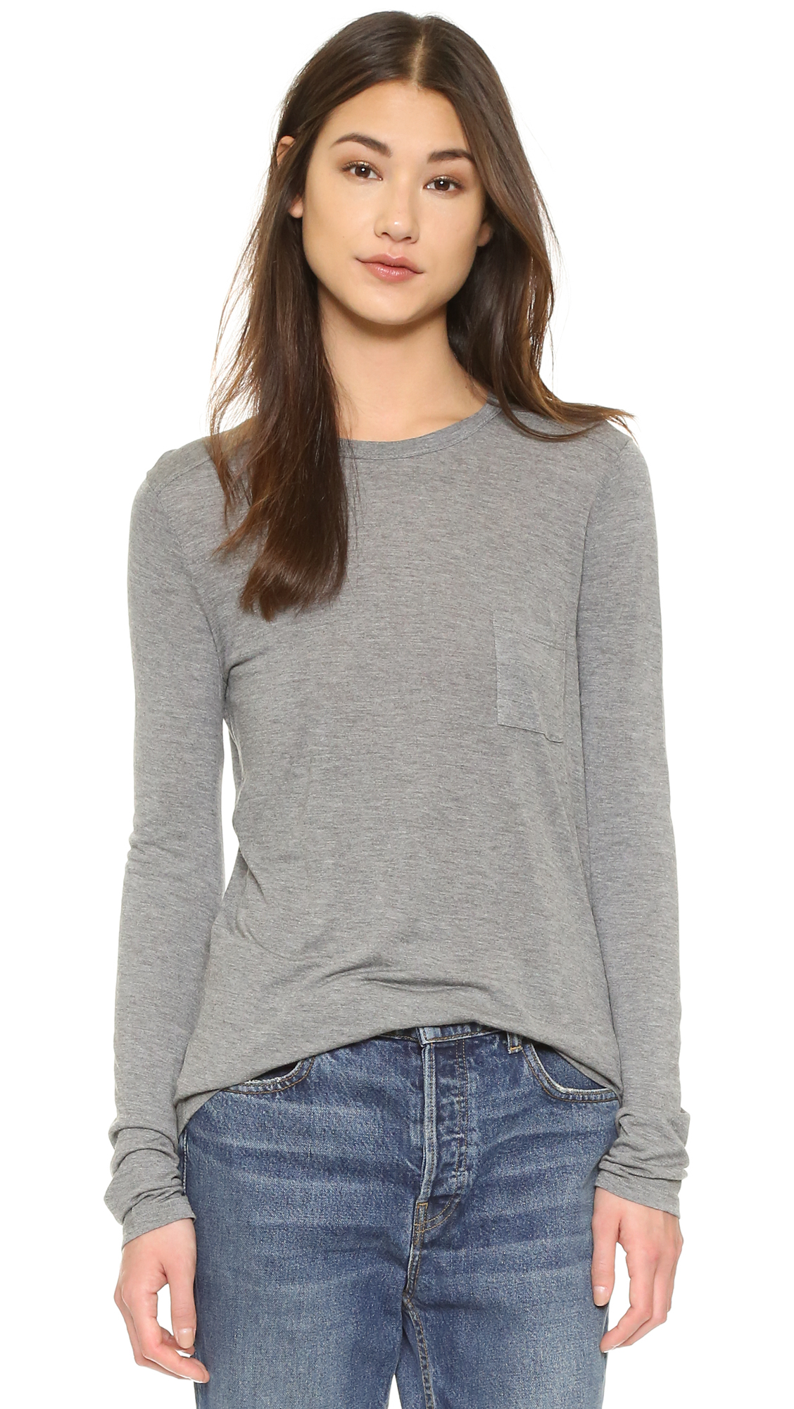 e4744a795e00 alexanderwang.t Classic Long Sleeve Tee with Pocket