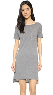 T by Alexander Wang Classic Boat Neck Dress with Pocket