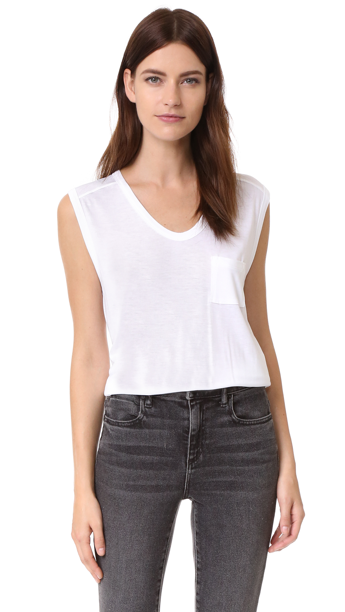 T by Alexander Wang Classic Muscle Tee | SHOPBOP
