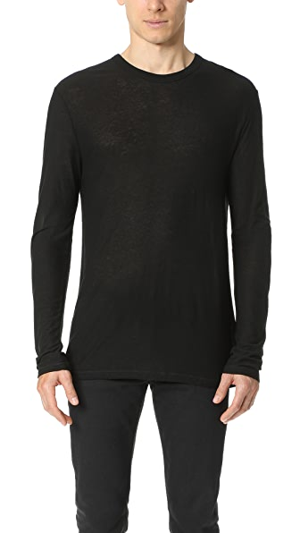 T by Alexander Wang Slub Long Sleeve T-Shirt