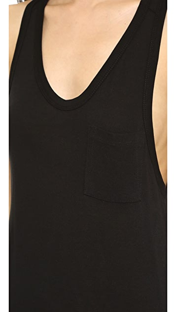 T by Alexander Wang Classic Tank Dress with Pocket