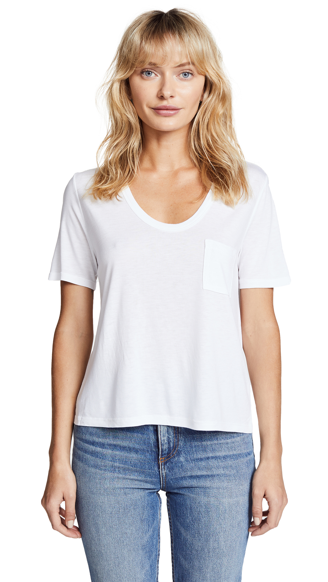 T by Alexander Wang Classic Cropped Tee - White