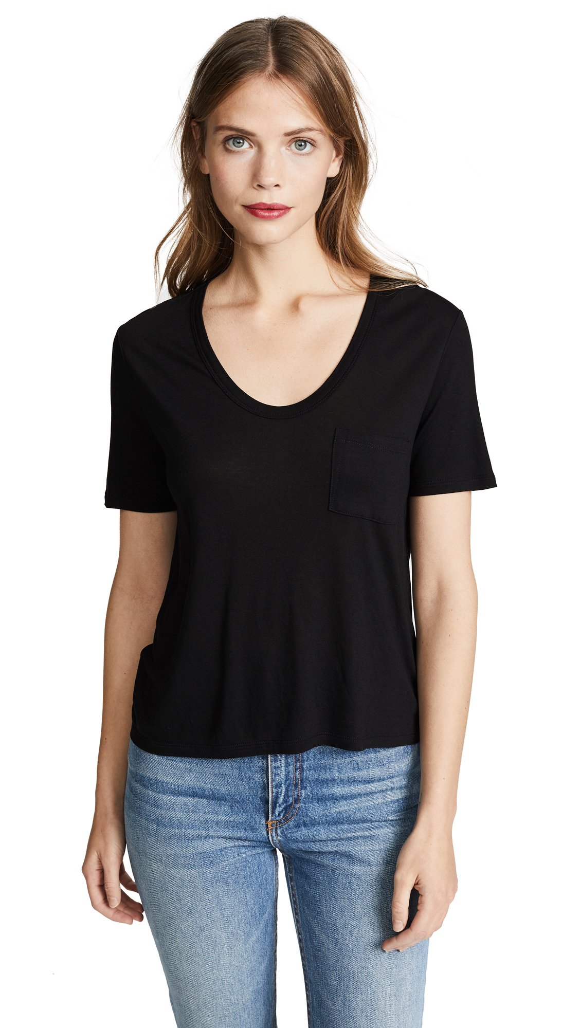 T by Alexander Wang Classic Cropped Tee - Black