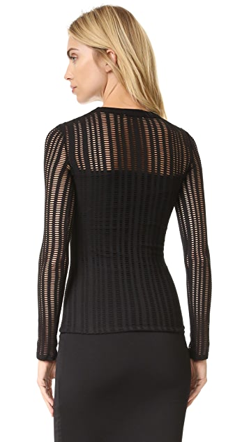 T by Alexander Wang Jersey Jacquard Top