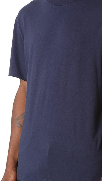 T by Alexander Wang Short Sleeve High Crew Neck Tee