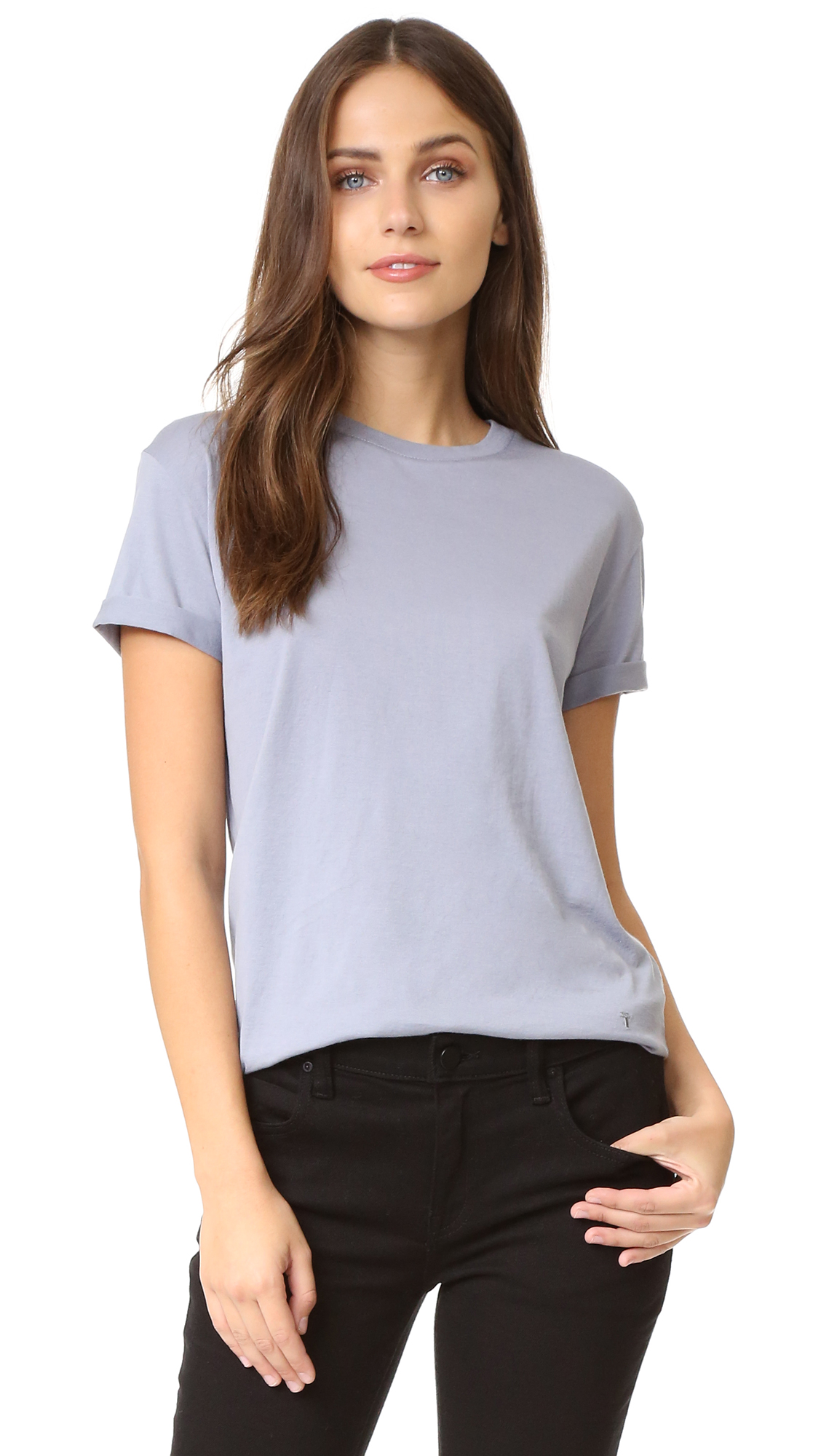 T By Alexander Wang Superfine Tee - Shale